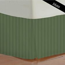 One Bed Skirt/valance 100% Egyptian Cotton 15 Inch Drop 1000 TC Moss Stripe