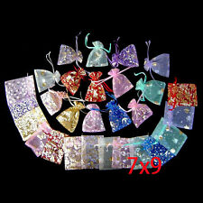 100 Pcs Mixed Organza Handwork Festival Storage Wedding Candy Gift Bags Pouches