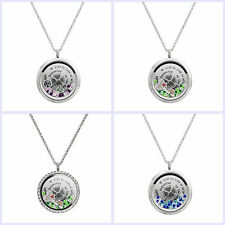 We Are Best Friends Connected By Heart Shamrock Floating Locket Charm Necklace