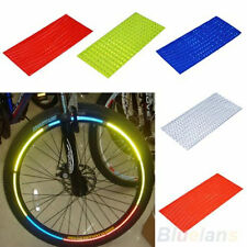 Utility Fluorescent Bike Bicycle Wheel Tyre Rim Reflective Stickers Tape