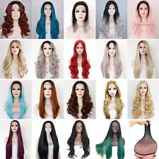 Lot Cosplay Lace Front Wig Long Wavy Heat Resistant Hair PartyCostume FancyDress