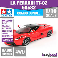 COMBO DEAL! 58582 TAMIYA LA FERRARI TT-02 1/10th R/C KIT RADIO CONTROL CAR