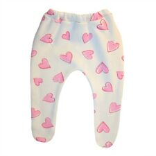 Baby Girls' Ivory Tights Pink Hearts - 6 Preemie Newborn and Toddler Sizes