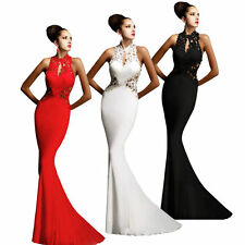 Sexy Womens Elegant Ball Grown Prom Bodycon Slim Cocktail Lace Long Maxi Dress
