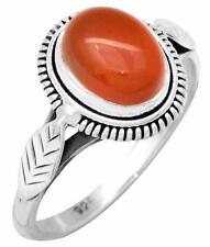 Carnelian Gemstone Ring Solid 925 Sterling Silver Jewelry IR37202