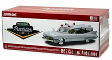 Greenlight 18004 Precision Collection 1959 Cadillac Ambulance 1:18 Scale White