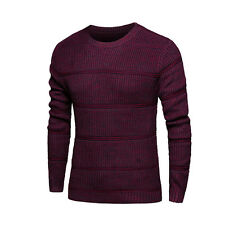 Stylish Mens Sweaters Slim Fit Knitted Crew neck Knitwear Pullover Tops NEW