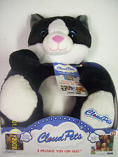 """As Seen on TV Cloud Pets 12"""" Kitty Cat -  RECORDABLE stuffed animal"""