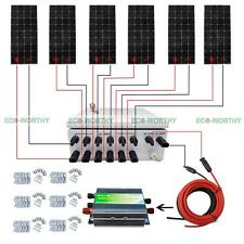 ECO 12V Off Grid Solar Panel Home System W/ 6 String Combiner Box 100W Module
