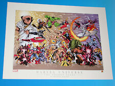 """Marvel Universe """"The Golden Years"""" Superheroes Limited Edition Lithograph"""