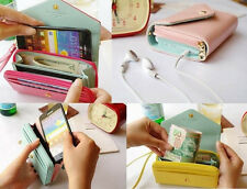 New Crown Multi propose envelope Purse Wallet For Galaxy S2,S3,iphone4,4S 7color