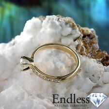 Natural Diamond Engagement Ring 14k Solid Gold 1.46 CT SI/F-G Size 6.5 Enhanced