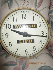 Wabash Insurance Life Advertising Clock Indiana IN