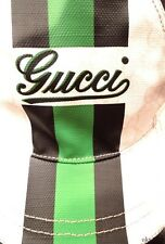 new mens/unisex GUCCI white GG black/green front LOGO hat cap S - 100% authentic