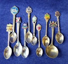 A bag of 10 assorted UK & European collector spoons - bargain ##WBR71BS