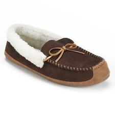 Men's WEMBLEY Brown Thinsulate Memory Foam Moccasin Slippers House Shoes NEW