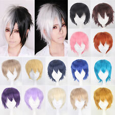 New Anime Short Cosplay Full Wig Layered Straight Up Hair Party Cosplay Wigs 8#