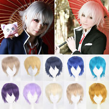 20 Colors Anime Coplay Short Wig Full Wigs Straight Up Hair Cosplay Party Wig 5#