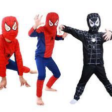 New Children Fancy Dress Costume Spiderman Black Venom Kid Boys Girls Halloween