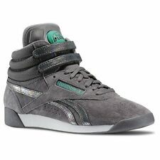 Reebok Freestyle Hi PUMP Co-UP Shoes Trainers FS High Fitness shoes Leather gray