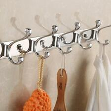 Stainless Steel 3-6 Hook Wall Hanger Coat Hat Clothes Holder Bedroom Towel Rack