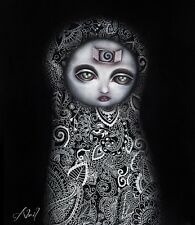 Secretos by Abril Andrade Griffith Goth Ghost Girl Fine Art Canvas Print