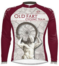 Primal Wear Old Fart Cycling Jersey Men's Atlas Long Sleeve with DeFeet Socks
