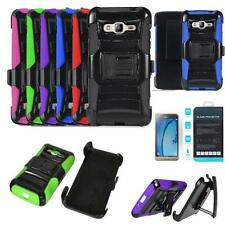 Phone Case For Samsung Galaxy J3 Sky 4g LTE Holster Cover Tempered Class Screen