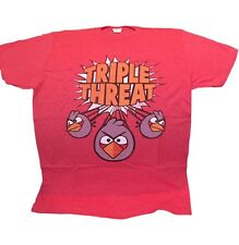 Angry Birds Triple Threat Red Birds Character Licensed Tee Shirt Adult Sizes NWT