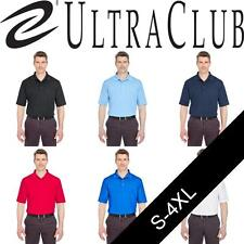 UltraClub Mens Cool & Dry Jacquard Polo. 8255