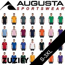 Augusta Sportswear V-Neck T-Shirt Jersey with Striped Sleeves. 360