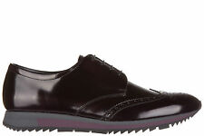 PRADA MEN'S CLASSIC LEATHER LACE UP LACED FORMAL SHOES NEW BROGUE SPAZZOLATO 2D3