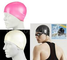 Black Durable Stylish Sporty Latex Swimming Cap Hat Lightweight A8P1