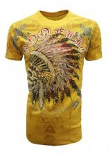 NEW KONFLIC CHIEF SKULL T SHIRT DREAMCATCHER MEN'S DESIGNER WEAR ALL SIZES