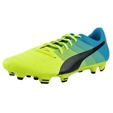 Puma evoPower 3.3 FG Soccer Cleats Men  Round Toe Leather Yellow Cleats