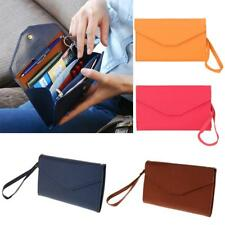 Business Card Holder Passport Cash Organizer Bag Purse Wallet Poacket Strap