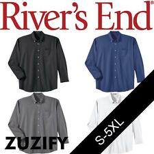 Rivers End Mens Wrinkle Resistant Long Sleeve Twill Shirt. 741