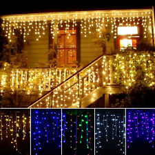 3.5M 96LED Curtain String Net Light Christmas Xmas Tree Wedding Party Fairy Lamp