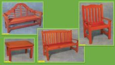 1:12 scale dolls house miniature selection of  garden furniture  4 items choose.
