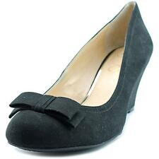 Jessica Simpson Sorina Women  Open Toe Canvas Black Wedge Heel NWOB