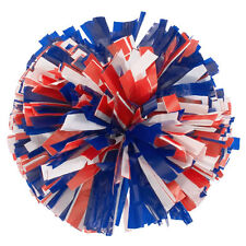 "Stock Cheer Poms | 6"" Plastics 3 Color Poms 