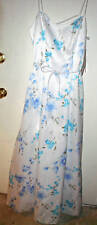 Morgan & Co. White Blue Floral Prom Formal Gown Dress Size 7/8 New NWT Long