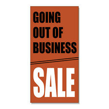 Going Out Of Business Sale Business  DECAL STICKER Retail Store Sign