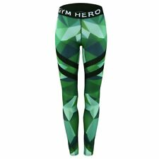 Womens YOGA Workout Gym Camo Sports Pants Leggings Fitness Stretch Trousers New