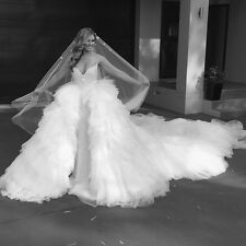 2017 Luxury Wedding Dresses With Detachable Cathedral Long Train Bridal Gowns