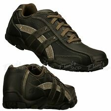 Men's SKECHERS 63385 Black BLK Diameter BLAKE Sneakers Shoes Leather Lace-Up NEW