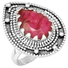 Royal Ruby Gemstone Ring Solid 925 Sterling Silver Jewelry IR37264