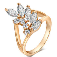 White Crystal Ring Jewelry Free Shipping Fashion Ring Size 6/7/8/9 Gift 18K GP