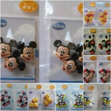 2 Pack Disney Sew-On Buttons / Sewing Notions /Charms Mickey Mouse, Pooh, DD