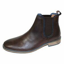 FRONT STANFORD MENS BROWN CHELSEA BOOTS
